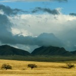 Clearing storm clouds on the grasslands in southeast Arizona; Coronado National Forest, AZ
