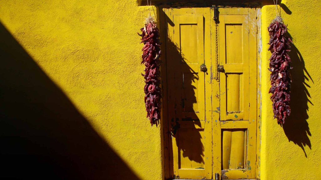 Doorway & Pepper Ristra, Tucson, Arizona