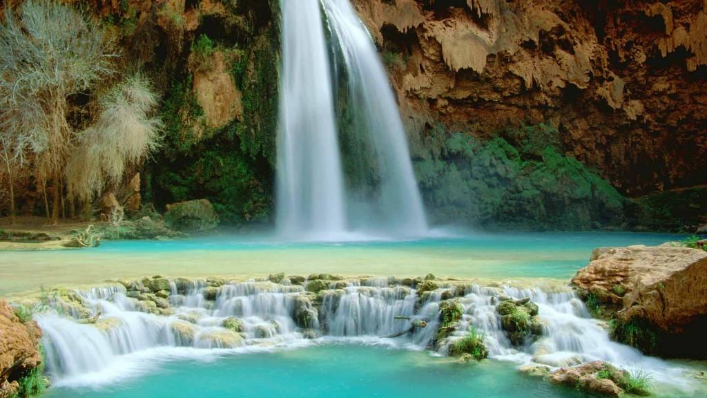 Havasupai Falls, Wassserfall, Havasupai Wasserfall,