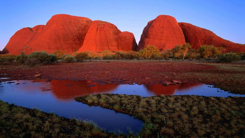 Kata Tjuta (The Olgas) at Sunset, Uluru-Kata Tjuta National Park, Australia
